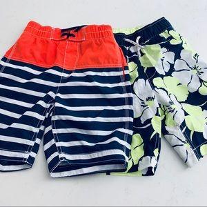 GAP Boys bundle of two bathing suit swim trunks
